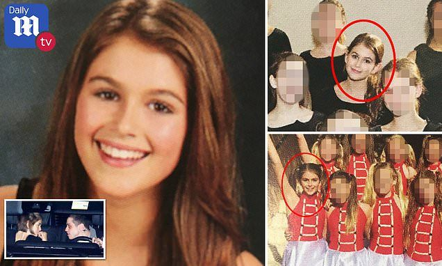 Kaia Gerber was known for her bubbly personality in middle