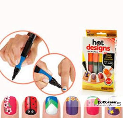 Nail Design Pen Set Beautiful Nail Art Pens 6 Colors In A Box