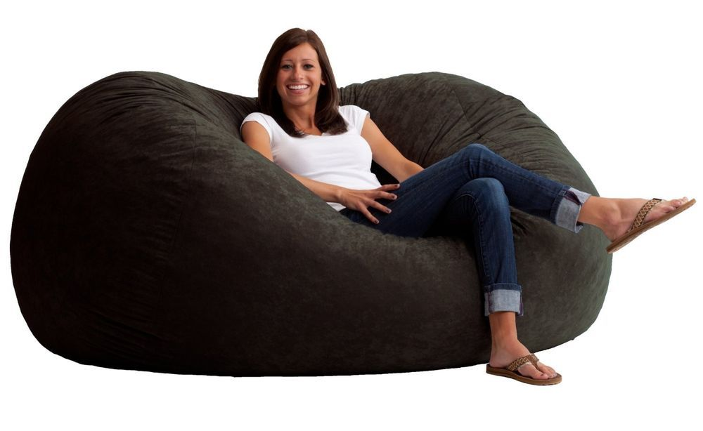 Large Lovesac Beanbag Cover Microsuede Furniture Dorm 6 Ft Bedroom