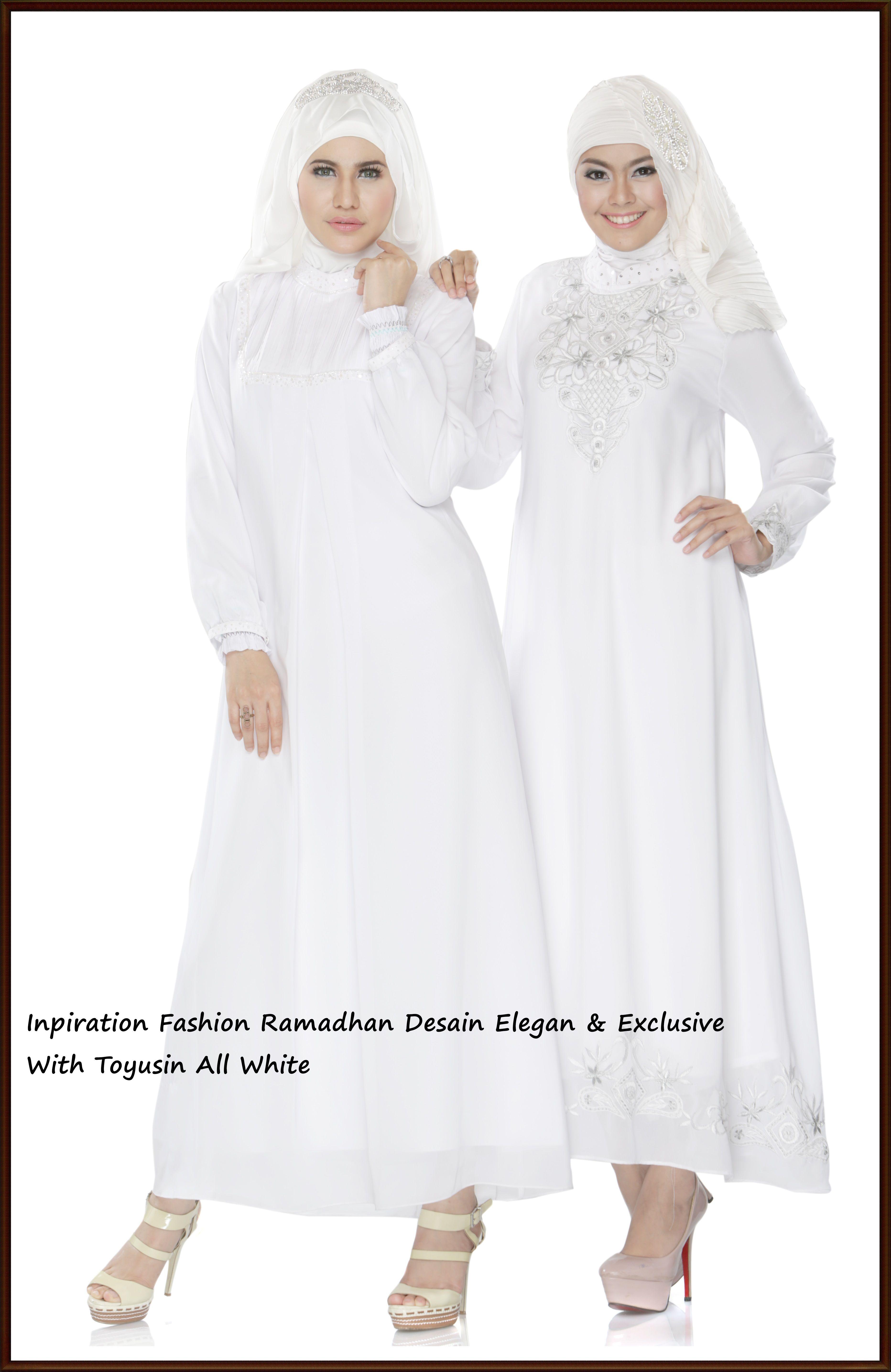 Gamis Putih dengan desain Exclusive  Desain, Cocok, Warna