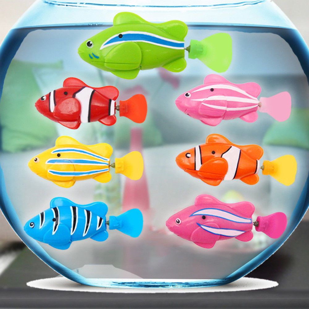 Robot Fish Activated Battery Powered Swimming Boys Bath Pet Toy