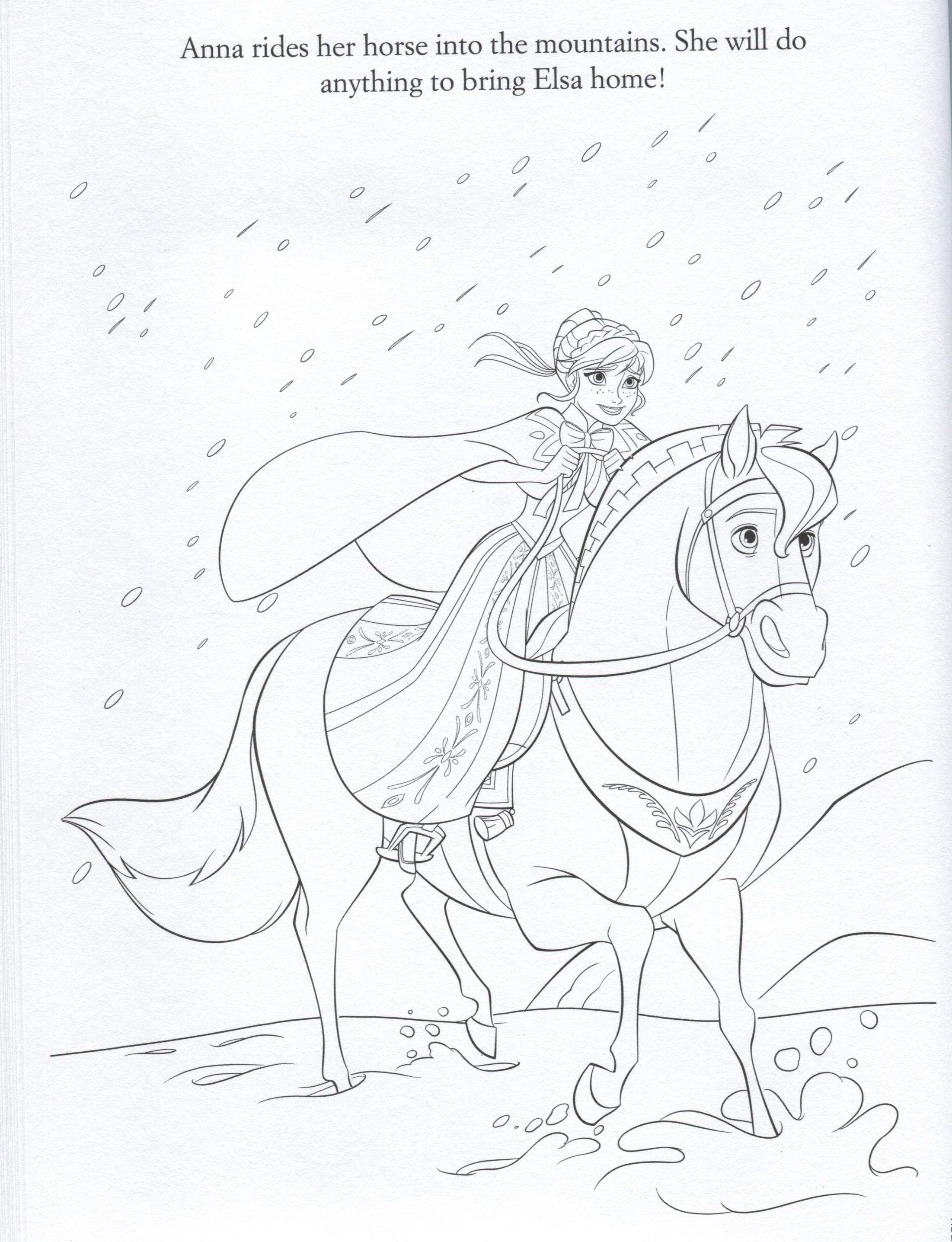 Frozen Photo Official Frozen Illustrations Coloring Pages Frozen Coloring Pages Horse Coloring Pages Disney Coloring Pages