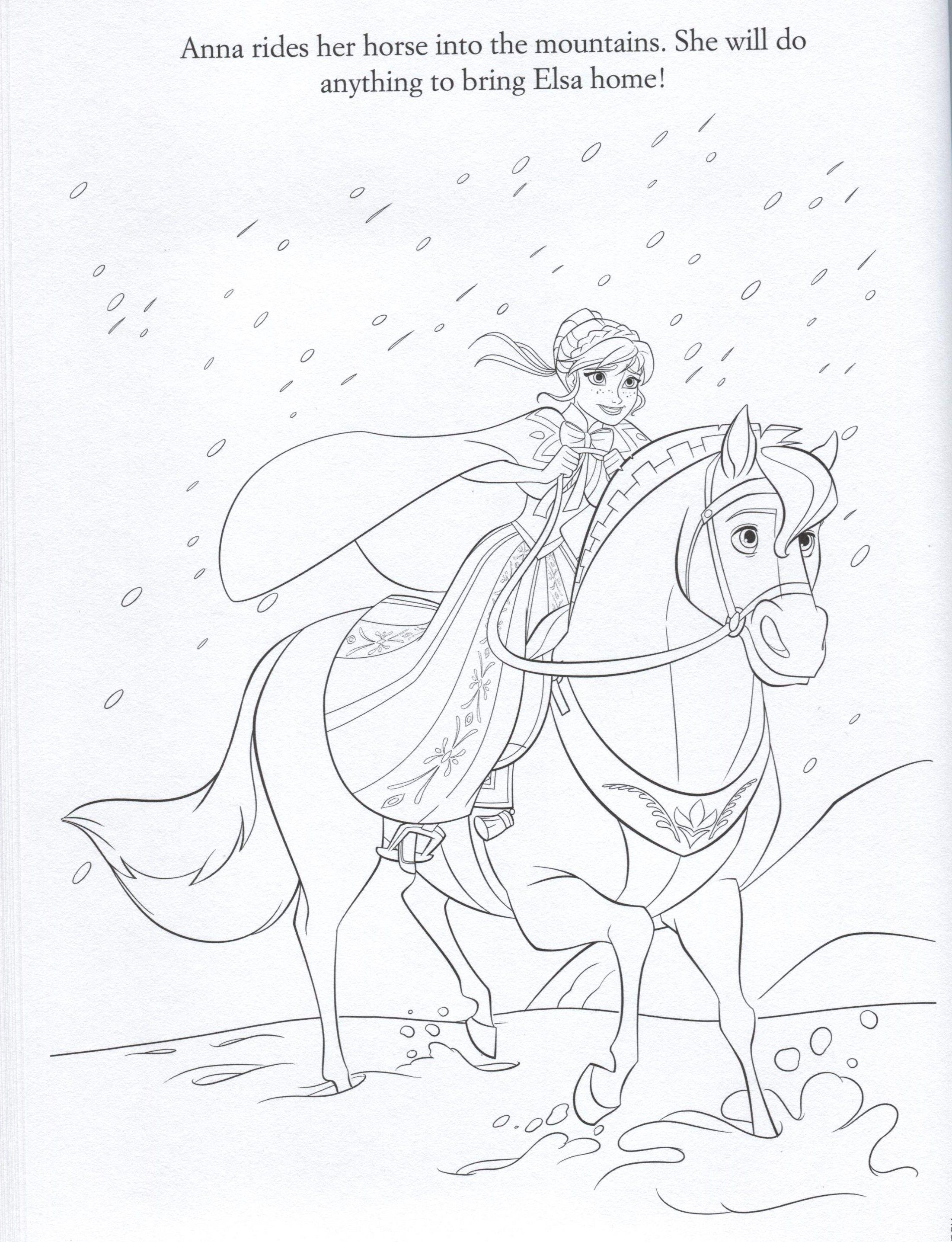 Frozen Photo Official Frozen Illustrations Coloring Pages Frozen Coloring Pages Horse Coloring Pages Disney Coloring Pages
