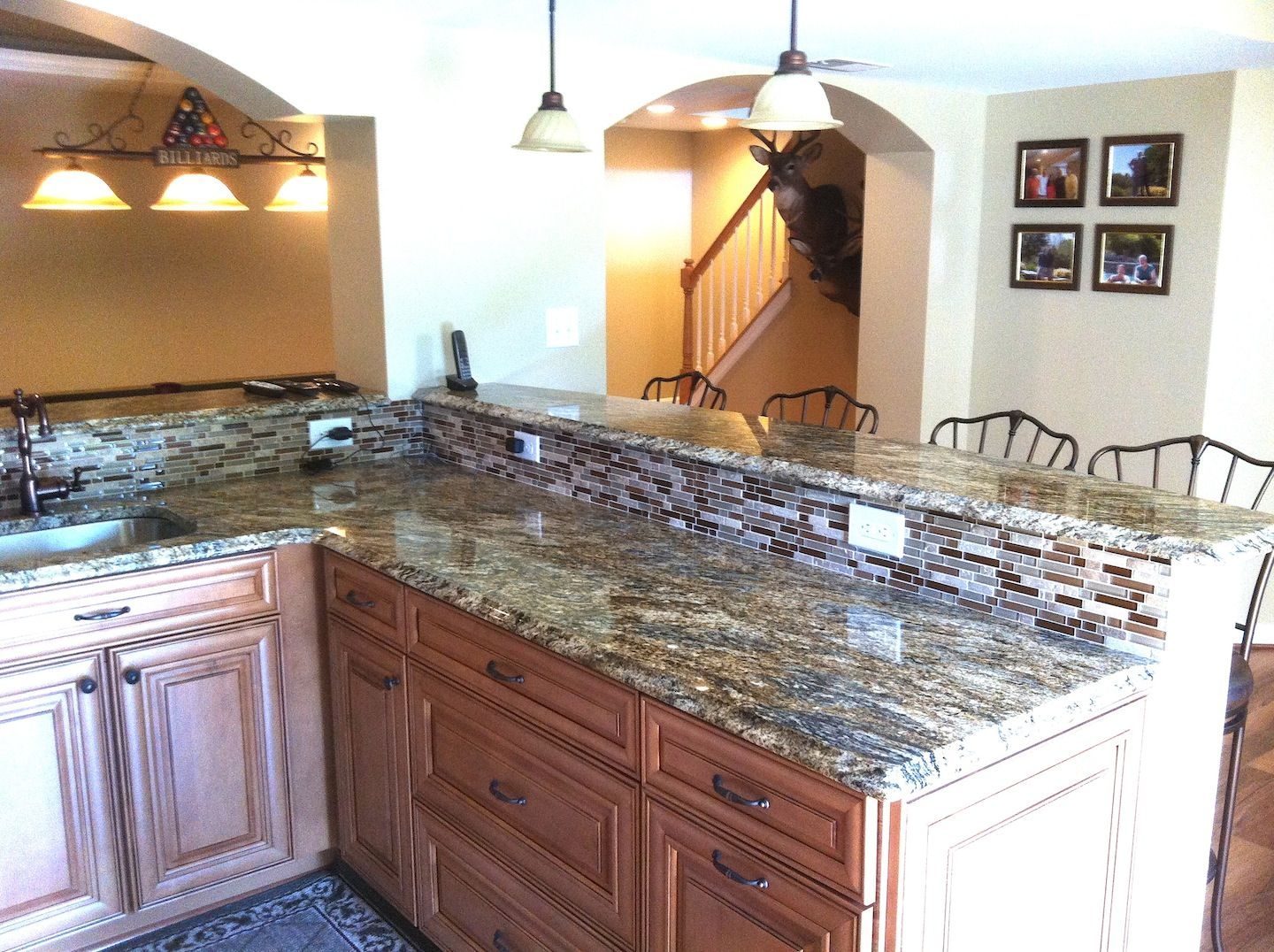 kitchenette (2/2) of a full basement remodel in owings mills, md