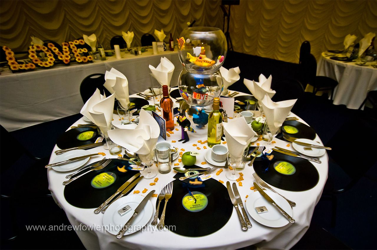 d coration mariage wedding centerpiece centre de table musique decoration table. Black Bedroom Furniture Sets. Home Design Ideas