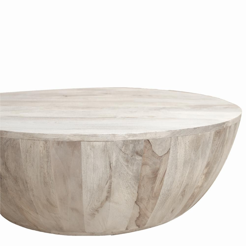 The Urban Port Light Brown Mango Wood Coffee Table In Round Shape Upt 32181 The Home Depot In 2020 Mango Wood Coffee Table Round Wooden Coffee Table Drum Coffee Table [ 1000 x 1000 Pixel ]