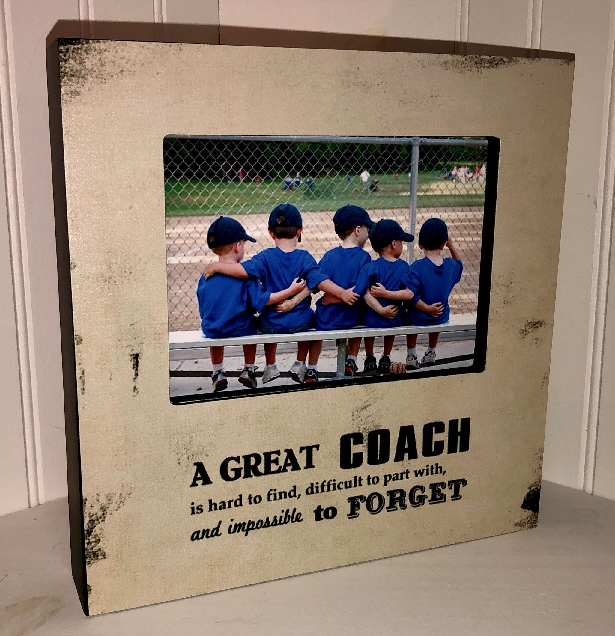 Coach Gift A Great Coach Is Hard To Find Difficult To Part Etsy In 2020 Coach Gifts Coach Kids Baseball Room