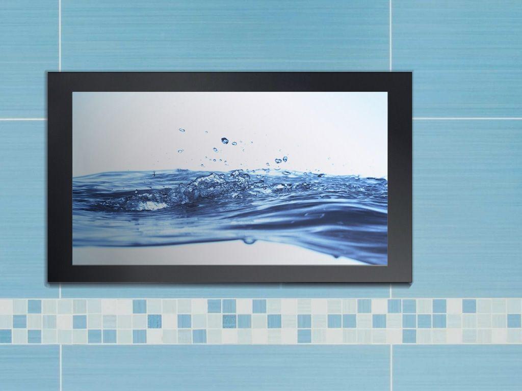 TechVision \'EDGE\' 24\'\' Black Waterproof TV   Waterproof tv, Bathroom ...