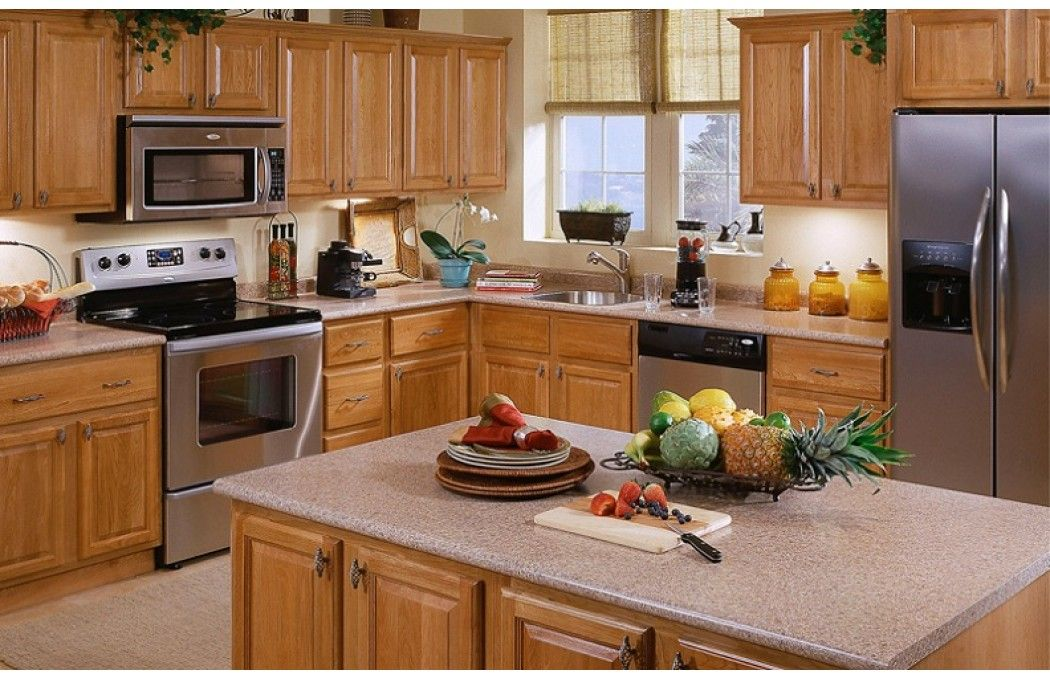 Like The Counter Color With Wood Cabinets  House Inspiration Beauteous Kitchen Designs With Oak Cabinets Decorating Design