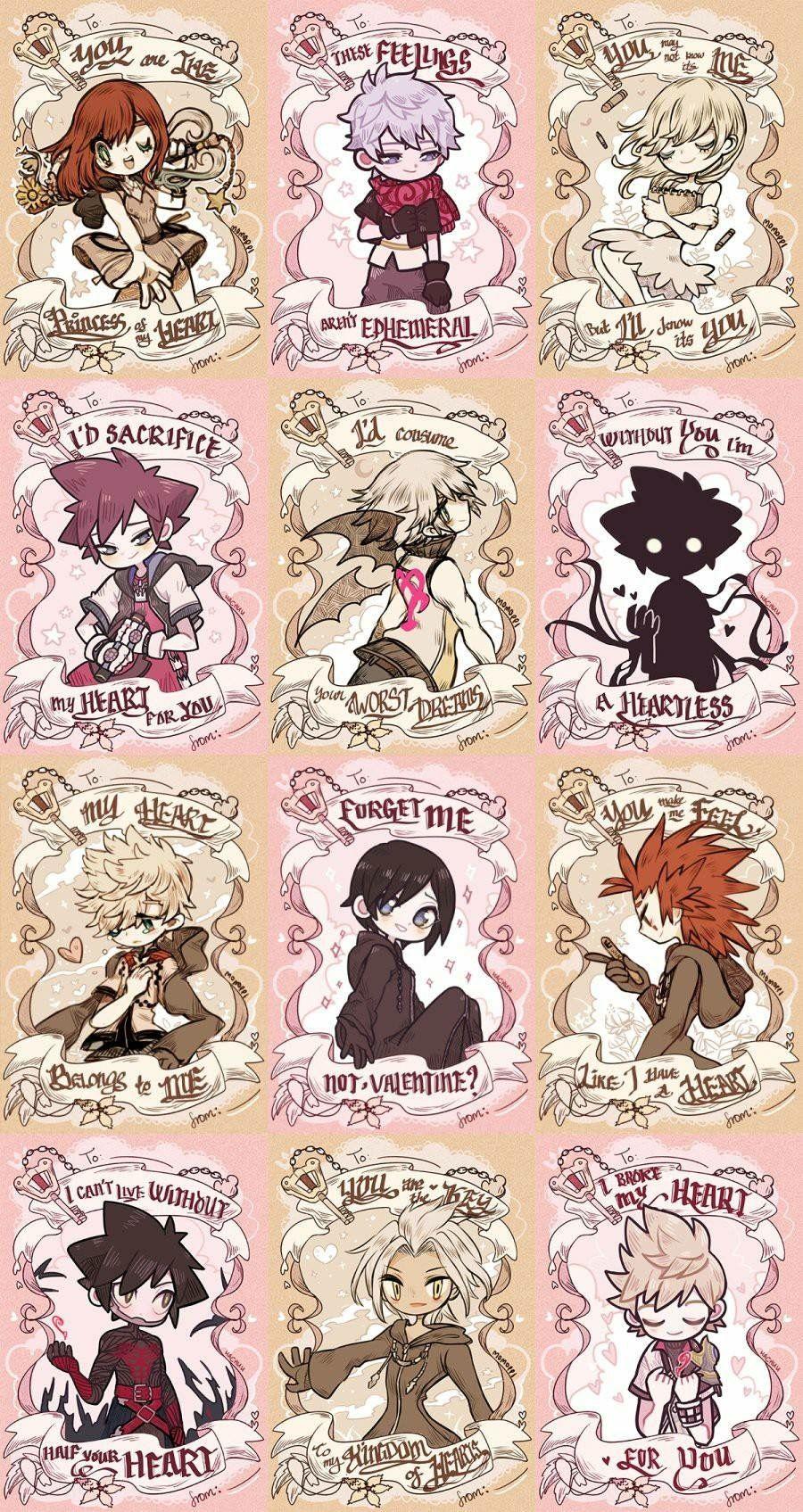 Kingdom hearts valentine cards kingdom hearts fanart