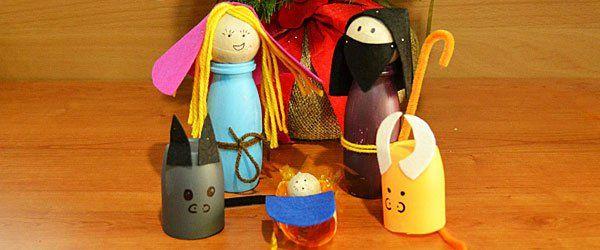 Manualidad De Belén Navideño De Reciclaje Para Niños Belenes Navideños Belenes Manualidades