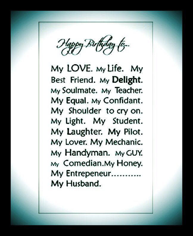 Happy Birthday Husband My Quotes Love