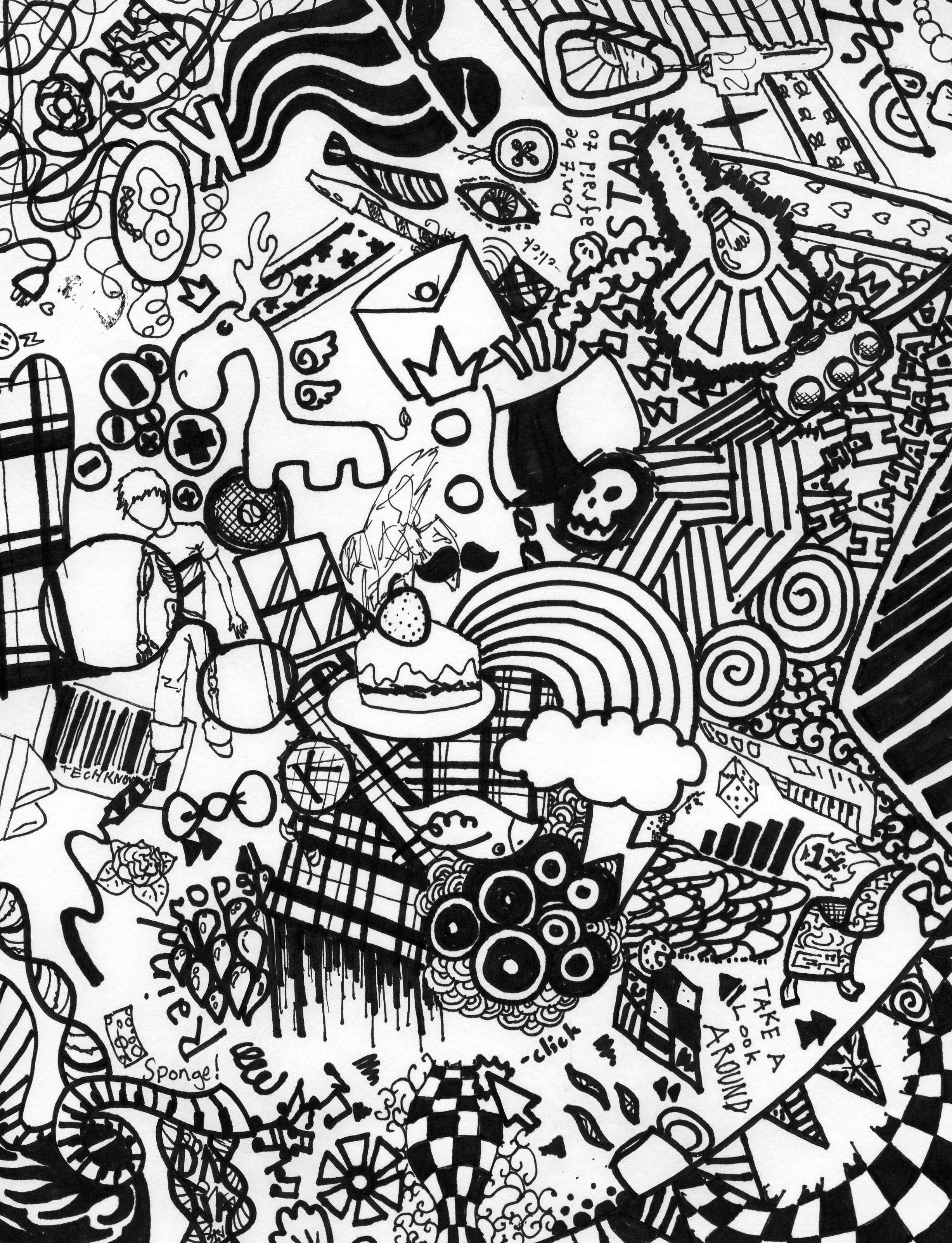 Doodle Art Designs : Sharpie doodle art intricate arts pinterest