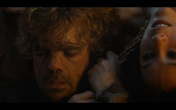 """""""I'm sorry... I'm sorry."""" Tyrion Lannister to Shae on the Game of Thrones Season 4 Finale."""