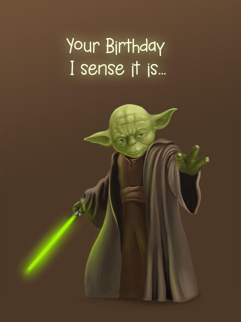 Yoda Card Birthday Cards Application Yoda Card Pinterest