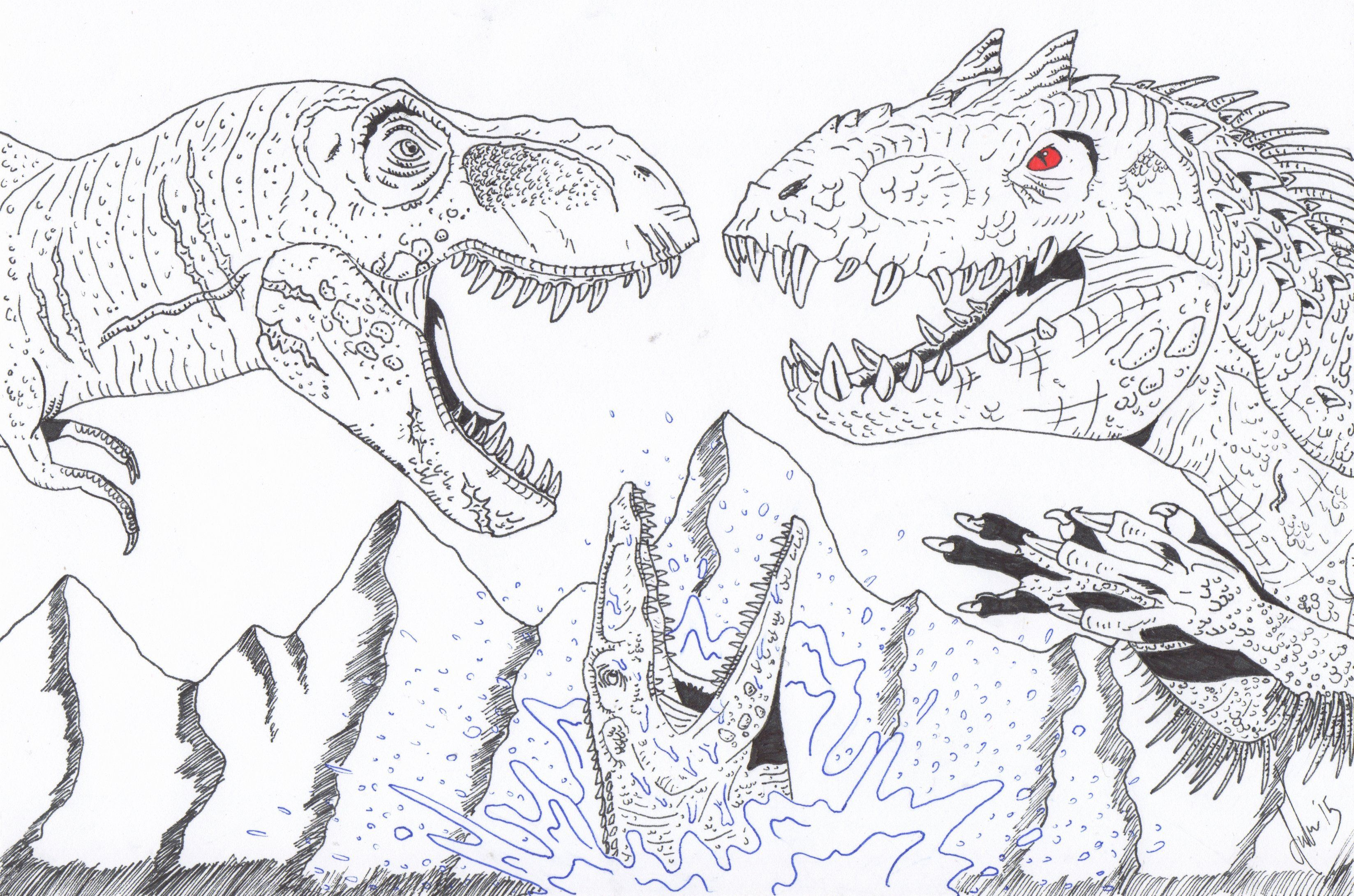Jurassic World Malvorlagen Edit   Aglhk