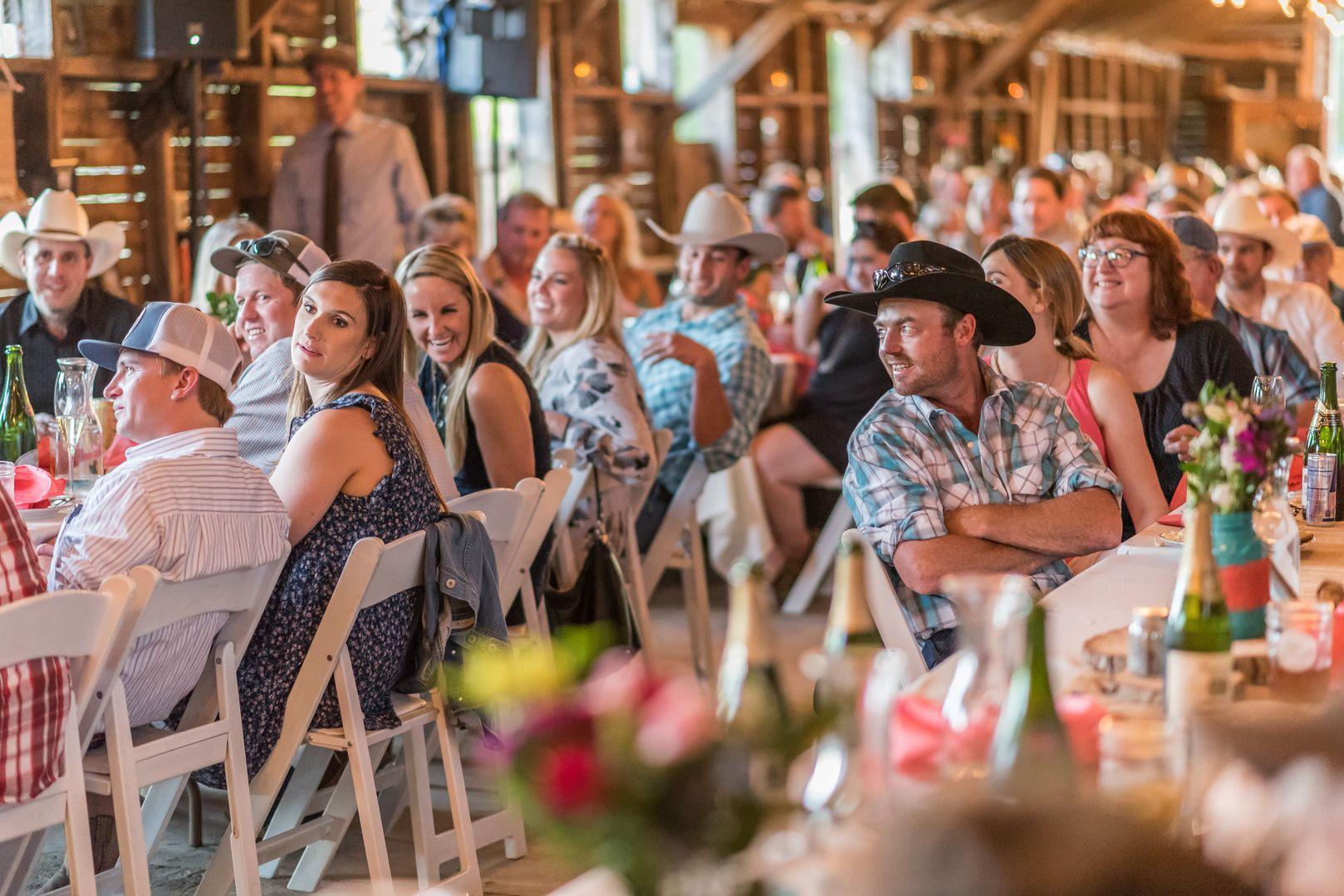 Barn wedding reception elizabeth adams photography