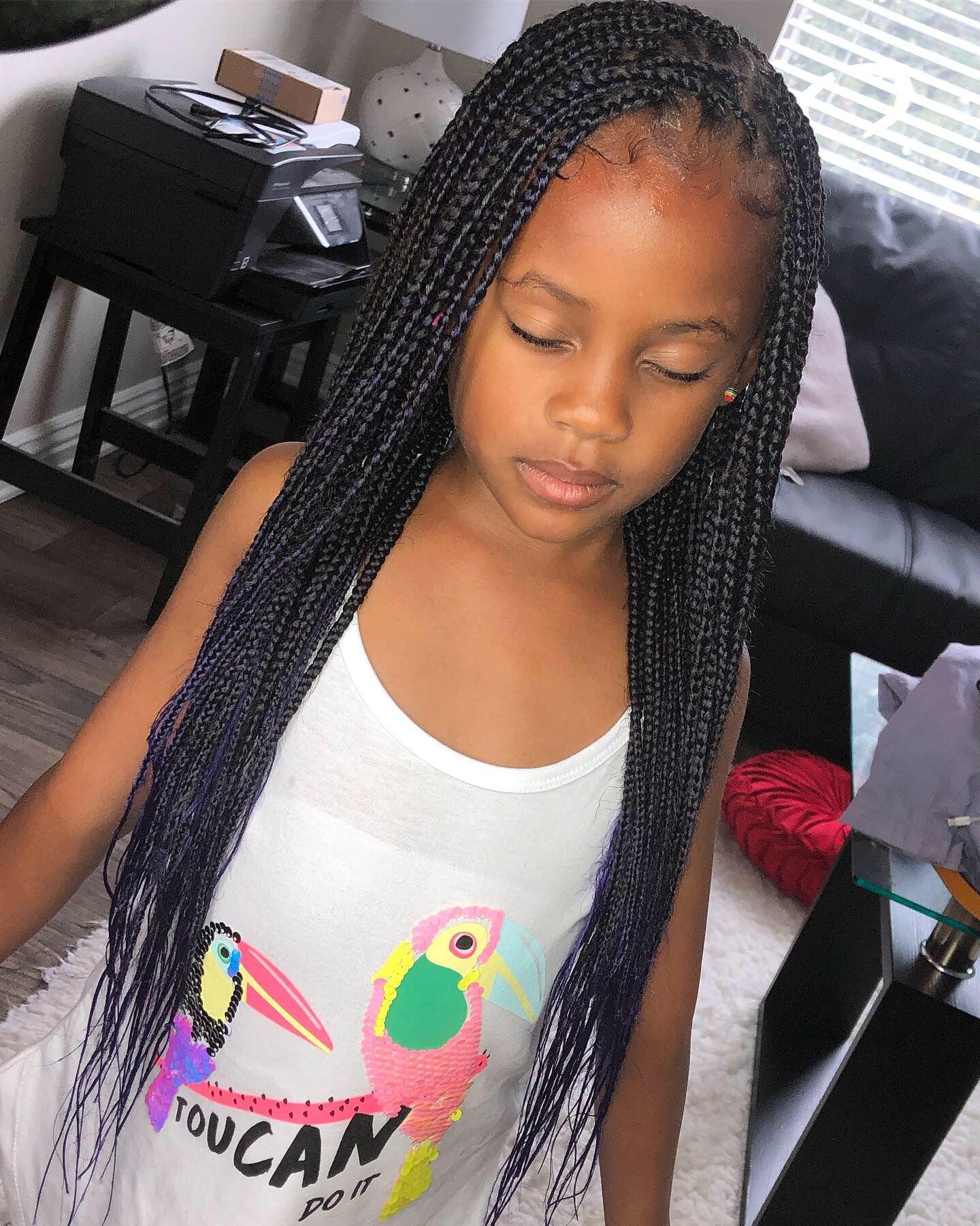 Knotless Box Braids Black Kids Braids Hairstyles Braided Hairstyles Little Girl Box Braids