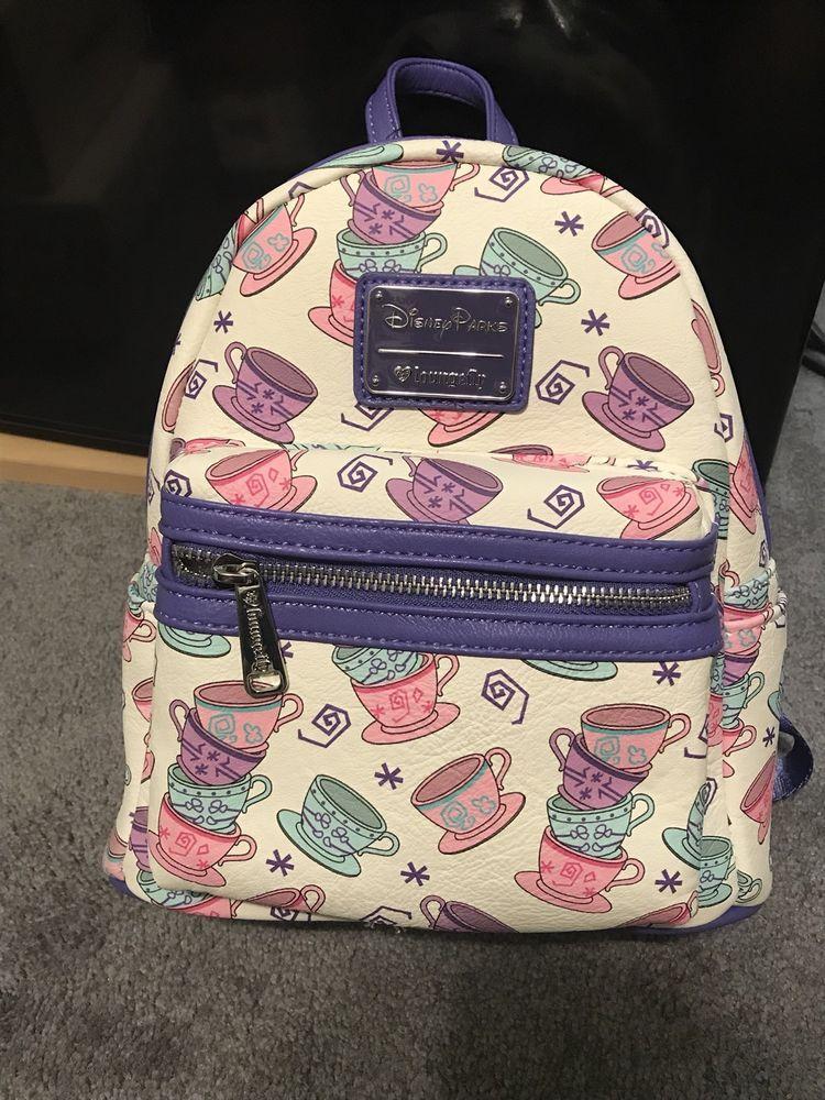 ab4d7e2efc3 Disney Parks Exclusive Mini Backpack Alice in Wonderland s Teacups Loungefly  NWT  Disneyana  Disney  WaltDisney