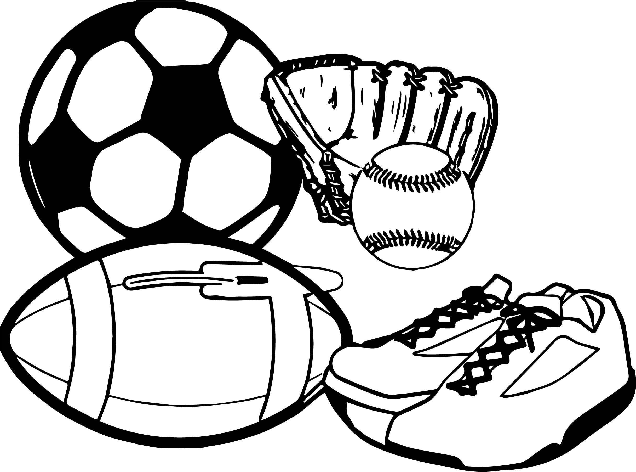 Nice Activity Sport Coloring Page Sports Coloring Pages Ball Drawing Printable Sports