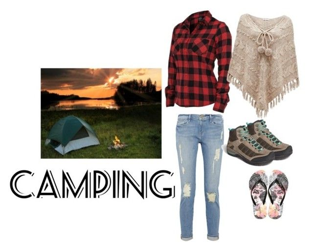 """""""CAMPING"""" by zahrasayyid on Polyvore featuring Teva, American Eagle Outfitters, Frame and Forever New"""