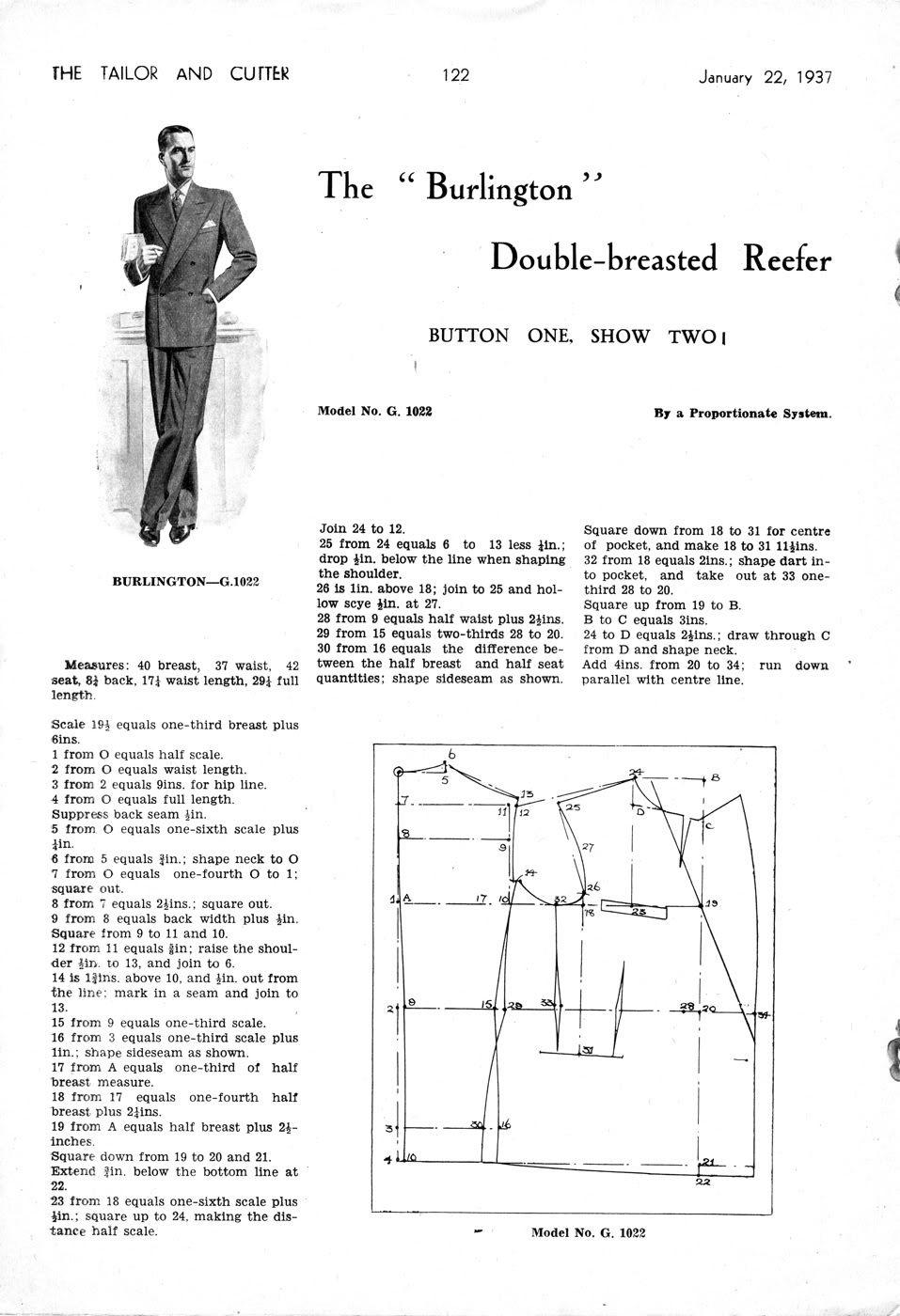 99895c6970 double-breasted refeer Ruhakészítés, Férfi Öltönyök, Molde, Literatura,  Szabásminták