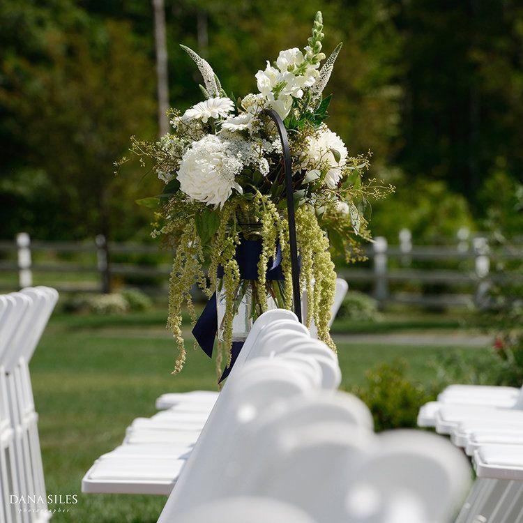 Wedding ceremony floral design and decor. Dana Siles