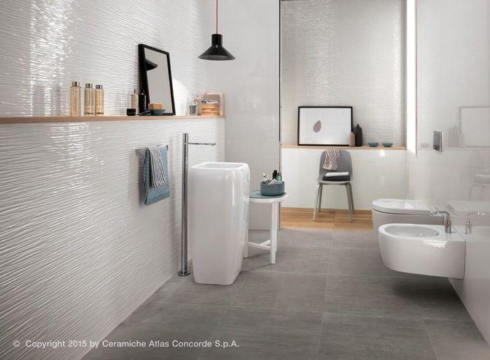 BagnoIdea.com - Rivestimento ceramico 3D Wall Design Wave ...