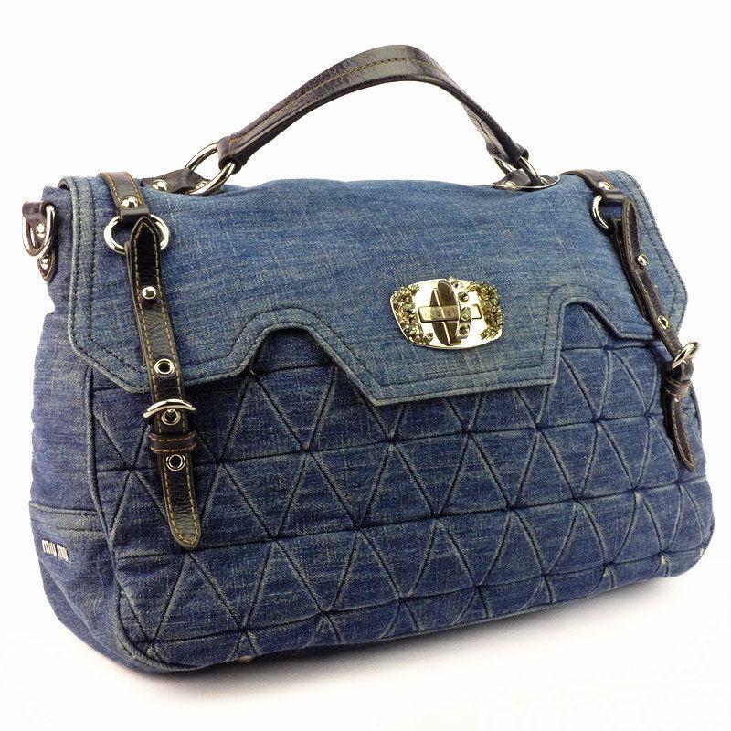 Miu Bag Blue Color Denim Good Condition Ref Code Ktye 6