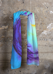 Cashmere Silk Scarf - Blues by VIDA VIDA