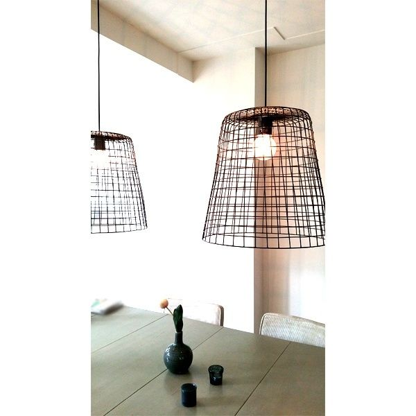 hanglamp draadstaal large interior living room pinterest