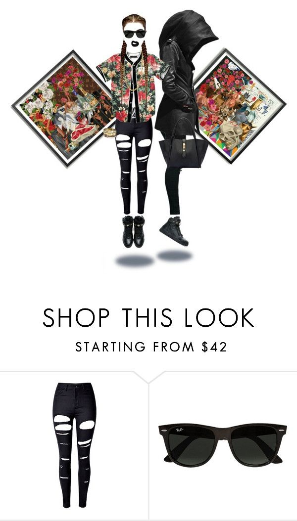 """Killing Season"" by foreverfreshie ❤ liked on Polyvore featuring WithChic and Ray-Ban"