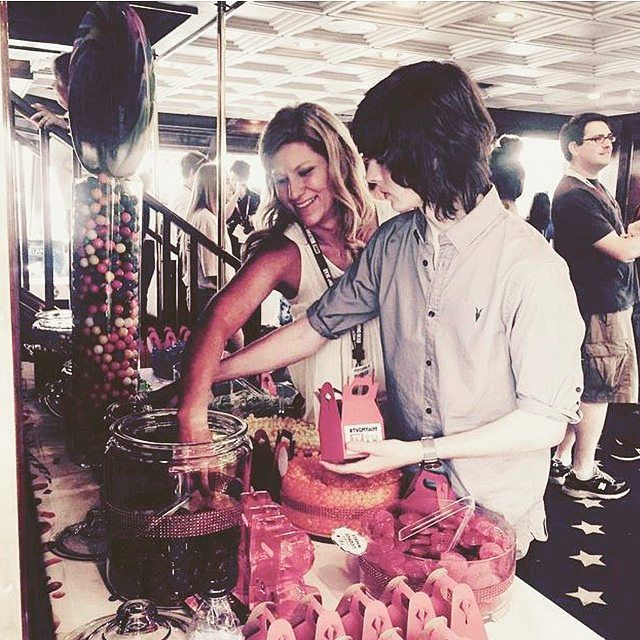 Chandler Riggs with mum