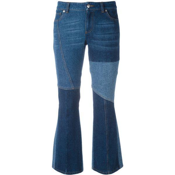 panelled kick flare jeans - Blue Alexander McQueen ovIFoFEssm