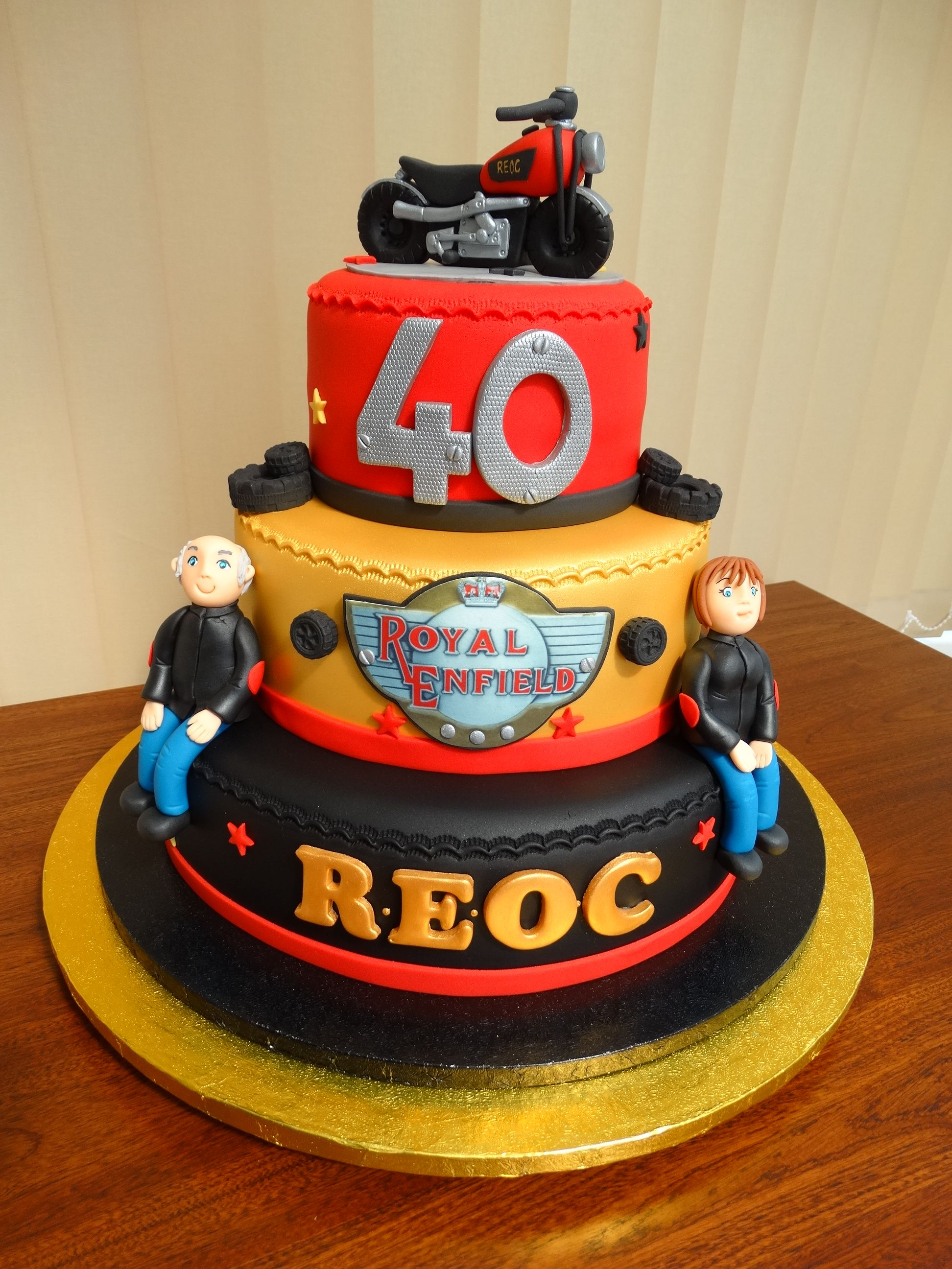 REOC Royal Enfield Owners Club 40th Birthday Cake xMCx