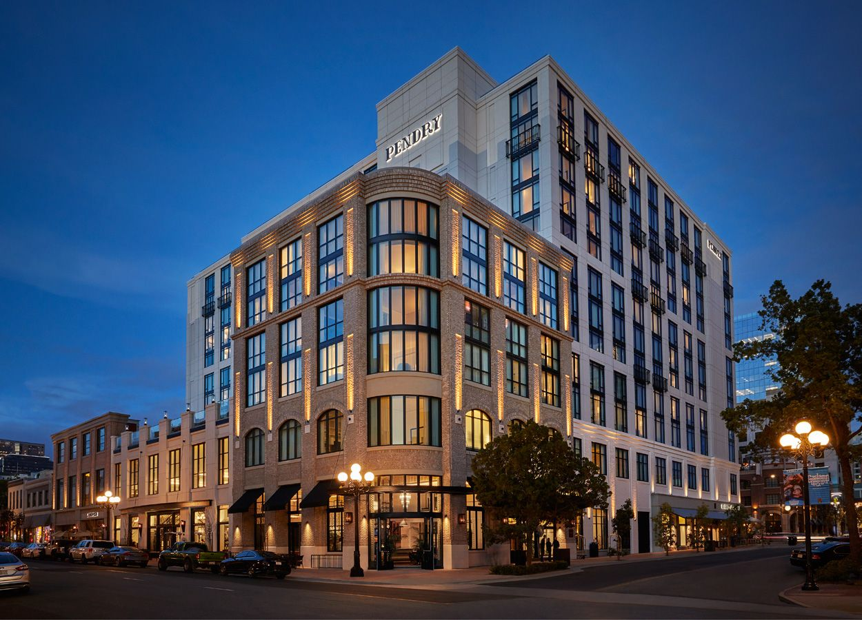 Pendry Hotel In The Heart Of The Gaslamp A Luxury Hotel And Part Of The Montage Group 317 Guest Rooms And Suite San Diego Hotels San Diego Houses San Diego