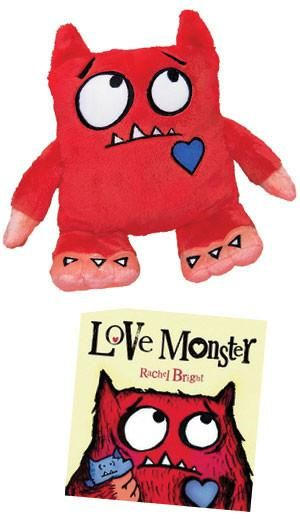The Love Monster Doll Is Red And Fluffy And Ready To Snuggle Who Wouldn T Love A Monster This Soft And Sweet Surface Wash On Monster Dolls Love Monster Dolls