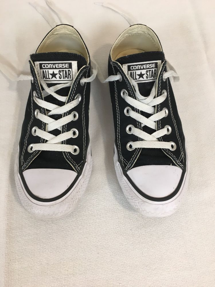 59850d5b97b CONVERSE ALL STAR LOW CUT BLACK CANVAS SNEAKERS WOMENS SIZE 5.  fashion   clothing  shoes  accessories  womensshoes  athleticshoes (ebay link)
