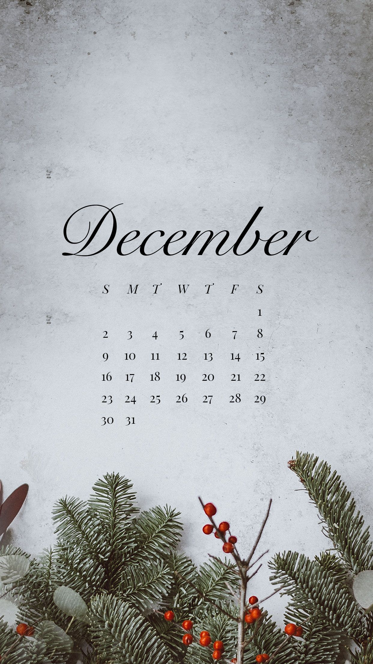 December Desktop and Mobile Wallpaper
