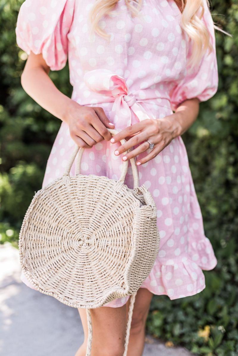 4e043258b5 Pink Polka Dot Dress– Ivory Lane Spring Wear