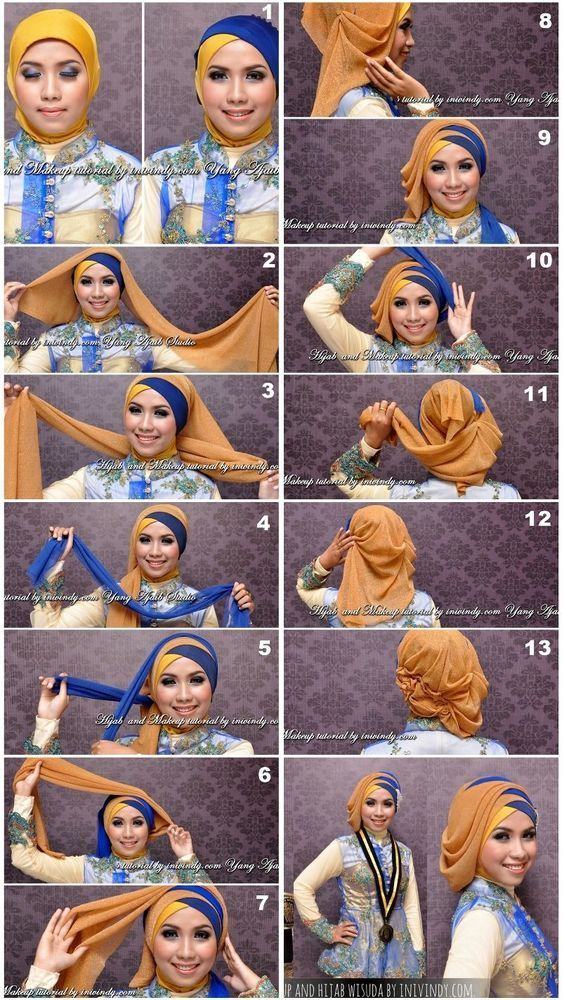 Tutorial Hijab Buat Wisuda Jilbab Turban Hijab Gaya Rambut Bob