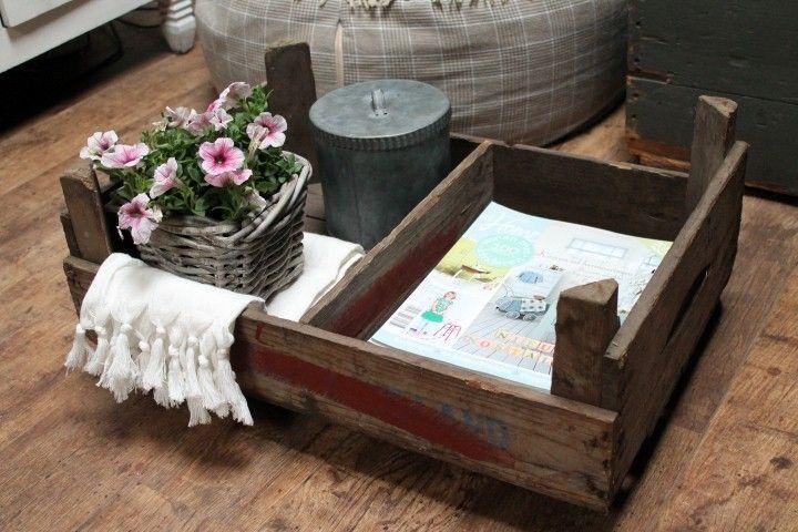 Lectuur / verzamelkistje op wieltjes | Eigen collectie | Tante Jo & Zo