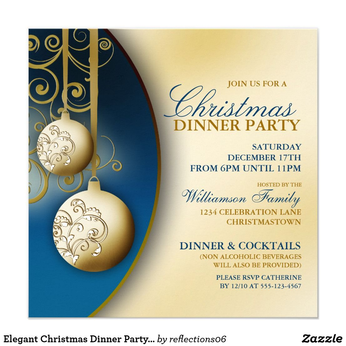 Elegant Christmas Dinner Party