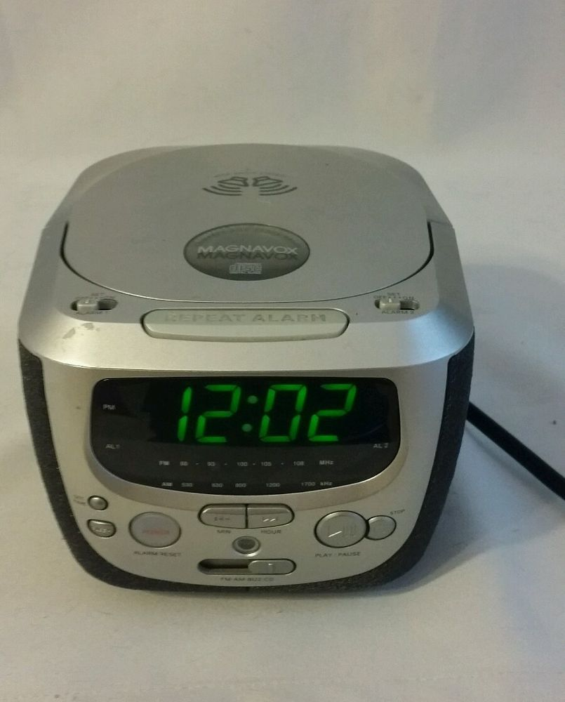 Magnavox Mcr230sl 17 Am Fm Only Cd Player Alarm Clock Radio Wide
