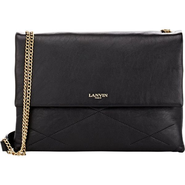 Lanvin Quilted Sugar Shoulder Bag (€1.990) ❤ liked on Polyvore featuring bags, handbags, shoulder bags, black, black purse, black shoulder bag, black handbags, black quilted purse and lanvin purse