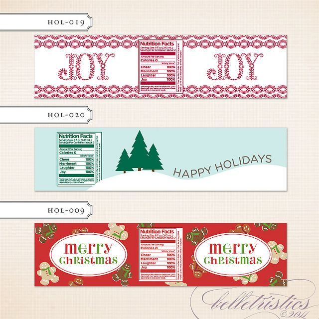 Google Search | Christmas | Printable water bottle labels ...