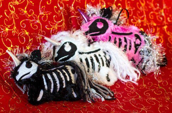 Hey, I found this really awesome Etsy listing at https://www.etsy.com/listing/262428617/plush-fluffy-skeleton-unicorn-ornament