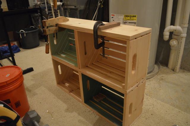 _DSC0177 Crate shelves diy, Wood crates, Wooden crate
