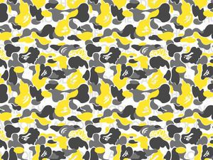 Bape Camo Orginal Pattern Japan Yellow Camouflage Wallpaper Camo Wallpaper Bape Wallpapers