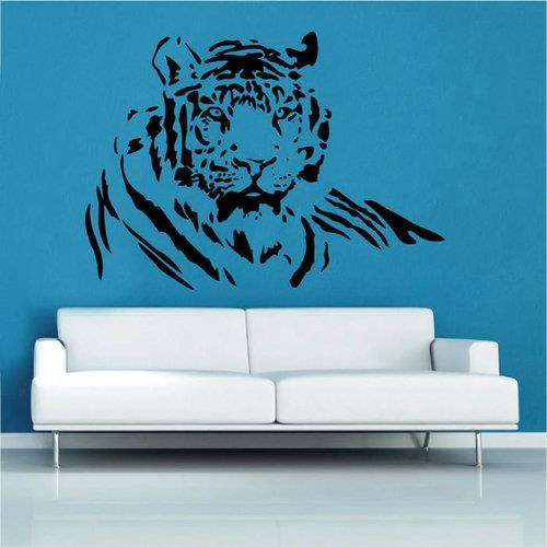 East Urban Home Wild Tiger Wall Sticker, Large Mirror Wall Stickers Uk